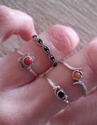 Zestaw pierścionków ze srebra