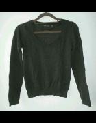 Zara grafitowy sweter klasyka minimalizm
