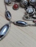 srebrny naszyjnik z hematytem Warmet Agat