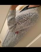 Niebiesko biały długi sweter Esprit S