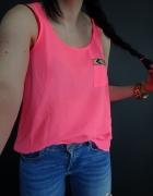 Bluzka na ramiączkach top boho haft neon XS...