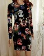 Brave Soul sukienka czaszki S