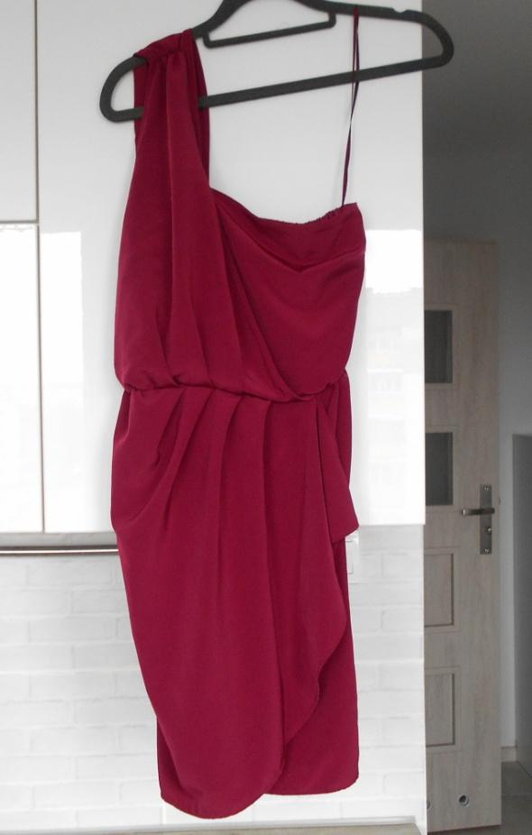 7815b3f31 Topshop nowa bordowa sukienka jedno ramię wesele w Suknie i sukienki ...