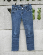 granatowe Spodnie S M jeans Parisian