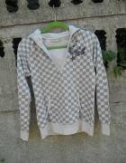 Damska bluza S M z kapturem Szachownica