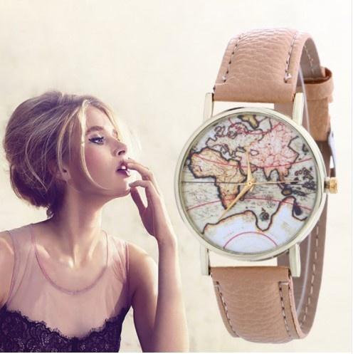 Zegarki Unikat zegarek My wonderful world UNIKAT camel