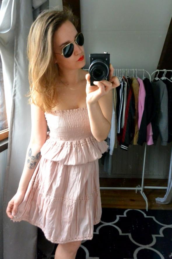 Suknie i sukienki Sukienka pudrowy róż