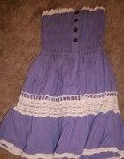 Śliczna fioletowa sukienka XS