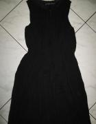 ZARA czarna pofalowana sukienka roz 34