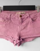 Topshop sliwkowe jeansowe spodenki szorty