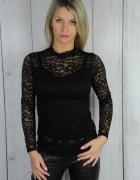 sexy czarna koronkowa bluzeczka hit bluzka 36 38