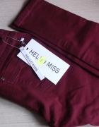 Bordowe spodnie Hello Miss 38