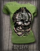 Zielona khaki koszulka z flakami Glovestar