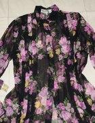 koszula mgiełka w kwiaty