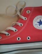Czerwone Converse za kostkę oryginalne 375