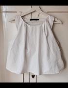 Biała krótka bluzka ZARA xs