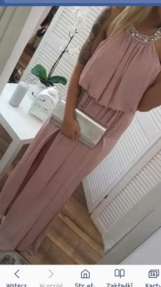 długa sukienka z rozporkiem...