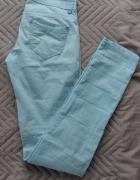 Spodnie letnie błękitne