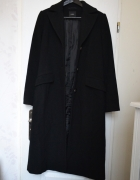 Minimalistyczny prosty płaszcz wełna wełniany cos trend minimal...