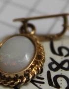 złota zawieszka z opalem złoto 14 karatowe próba 585