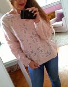 Beżowa koronkowa bluza koronka H&M S 36
