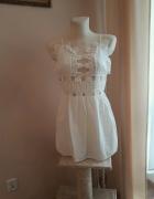 Sukienka Biała bawełniana letnia