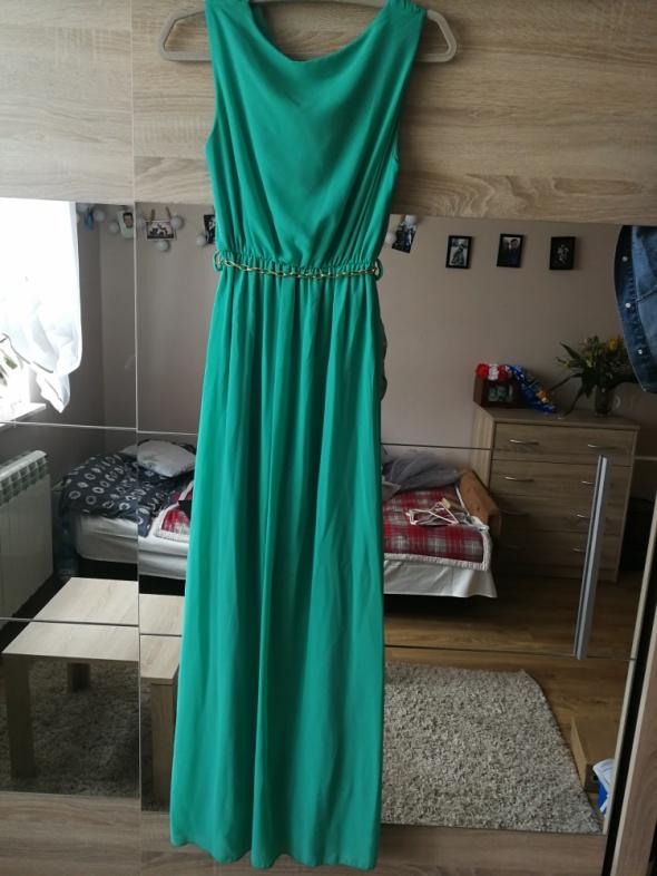 turkusowa sukienka 36