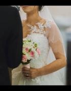Suknia ślubna księżniczka koronka Ivory rozmiar między 36 a 38 ...