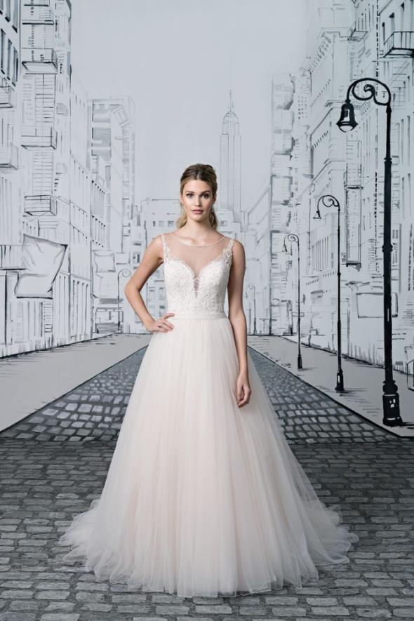 Sukienka ślubna Z Podpinanym Trenem Justin Alexander Z Usa W Suknie