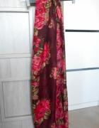 Zara kwiatowa chusta floral wzory wiosenna
