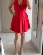 Nelly nowa sukienka czerwona rozkloszowana wesele
