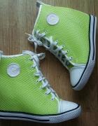Trampki na koturnie sneakersy