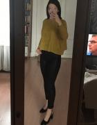 Sweter golf żółty musztardowy H&M S 36