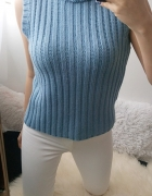Sweter golf bez rękawów L