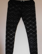 New Look koronkowe legginsy czarne 40