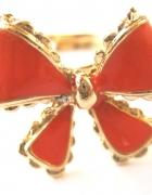 pierścionek mała kokardka różowa czerwona