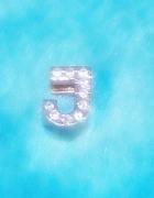 Zawieszka srebrna literka J z cykoniami vintage