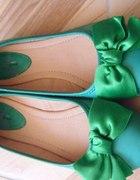Zielone balerinki kokarda r 38