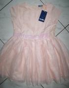 LUPILU różowa sukienka z cekinami roz 98