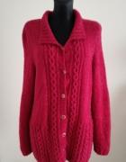 Ciepły rozpinany sweter 44 46