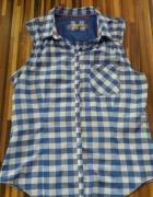 koszula w kratę 40 niebieska