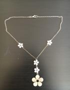 Naszyjnik kwiaty srebro