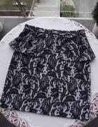 TOPSHOP koronkowa spódnica z baskinką wysoki stan M L...