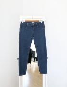 spodnie jeansowe rurki 38 M pull&bear skinny obcisłe ciemny jeans dżins skinny basic