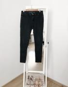 spodnie rurki super skinny 40 L czarne obcisłe cienkie miękkie soft szare jeansy dżins jeans