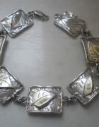 Srebrna artystyczna bransoletka część kompletu