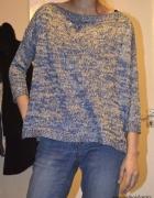 niebieskie sweter oversize