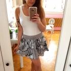 Szara dresowa spódniczka H&M wzory S 36 falbanka