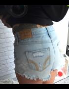 spodenki jeans dziury hollister