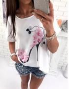 bluzka z szpileczka biała róż s m